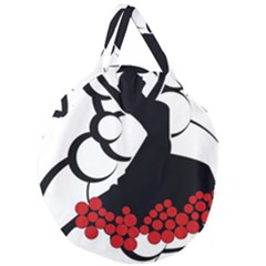 Flamenco Dancer Giant Round Zipper Tote by AnjaniArt