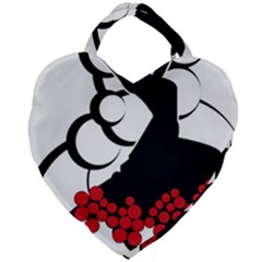 Flamenco Dancer Giant Heart Shaped Tote by AnjaniArt