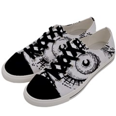 Big Eye Monster Men s Low Top Canvas Sneakers by AnjaniArt