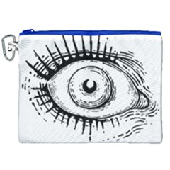 Big Eye Monster Canvas Cosmetic Bag (xxl) by AnjaniArt