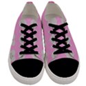 Cupcake Pink Grey Men s Low Top Canvas Sneakers View1