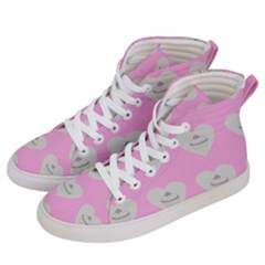 Cupcake Pink Grey Men s Hi Top Skate Sneakers by snowwhitegirl