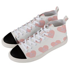Cupcake White Pink Men s Mid Top Canvas Sneakers by snowwhitegirl