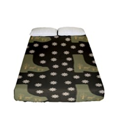 Charcoal Boots Fitted Sheet (full/ Double Size) by snowwhitegirl