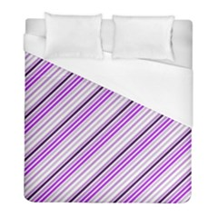 Purple Diagonal Lines Duvet Cover (full/ Double Size) by snowwhitegirl