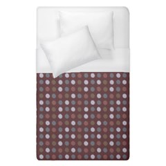 Grey Pink Lilac Brown Eggs On Brown Duvet Cover (single Size) by snowwhitegirl