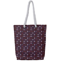 Grey Pink Lilac Brown Eggs On Brown Full Print Rope Handle Tote (small) by snowwhitegirl
