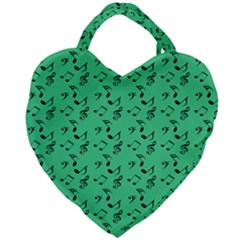 Green Music Giant Heart Shaped Tote