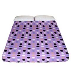 Black White Pink Blue Eggs On Violet Fitted Sheet (california King Size) by snowwhitegirl