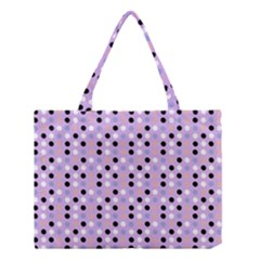 Black White Pink Blue Eggs On Violet Medium Tote Bag by snowwhitegirl