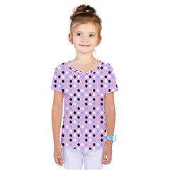 Black White Pink Blue Eggs On Violet Kids  One Piece Tee