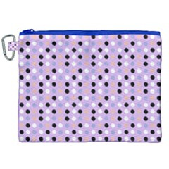 Black White Pink Blue Eggs On Violet Canvas Cosmetic Bag (xxl) by snowwhitegirl