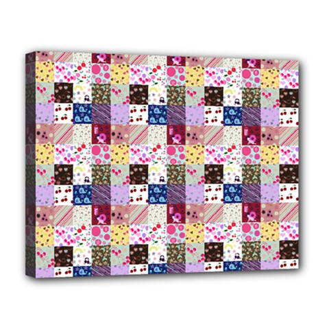 Quilt Of My Patterns Small Canvas 14  X 11