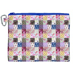 Quilt Of My Patterns Small Canvas Cosmetic Bag (xxl) by snowwhitegirl