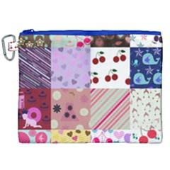 Quilt Of My Patterns Canvas Cosmetic Bag (xxl) by snowwhitegirl