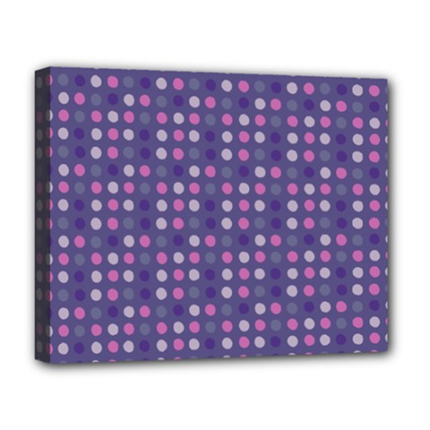 Violet Grey Purple Eggs On Grey Blue Deluxe Canvas 20  X 16   by snowwhitegirl