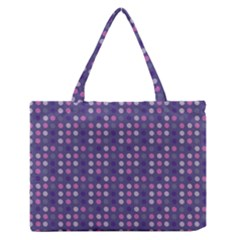 Violet Grey Purple Eggs On Grey Blue Zipper Medium Tote Bag by snowwhitegirl