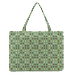 Green Brown  Eggs On Green Zipper Medium Tote Bag by snowwhitegirl