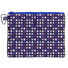 Peach Purple Eggs On Navy Blue Canvas Cosmetic Bag (xxl) by snowwhitegirl