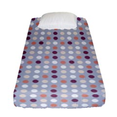 Pink Purple White Eggs On Lilac Fitted Sheet (single Size)