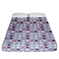 Pink Purple White Eggs On Lilac Fitted Sheet (queen Size) by snowwhitegirl