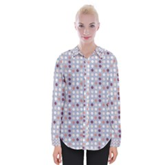 Pink Purple White Eggs On Lilac Womens Long Sleeve Shirt