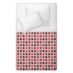 Grey Red Eggs On Pink Duvet Cover (single Size) by snowwhitegirl