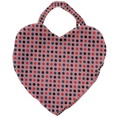 Grey Red Eggs On Pink Giant Heart Shaped Tote by snowwhitegirl