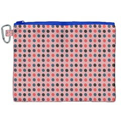 Grey Red Eggs On Pink Canvas Cosmetic Bag (xxl) by snowwhitegirl