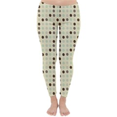 Brown Green Grey Eggs Classic Winter Leggings