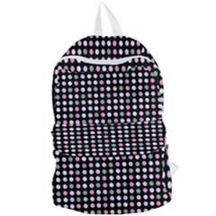 Pink Green Eggs On Black Foldable Lightweight Backpack