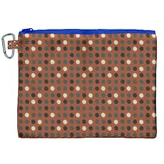 Grey Eggs On Russet Brown Canvas Cosmetic Bag (xxl)