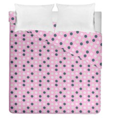 Teal White Eggs On Pink Duvet Cover Double Side (queen Size)