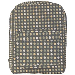 Grey Beige Eggs On Dark Grey Full Print Backpack
