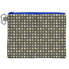 Grey Beige Eggs On Dark Grey Canvas Cosmetic Bag (xxl) by snowwhitegirl