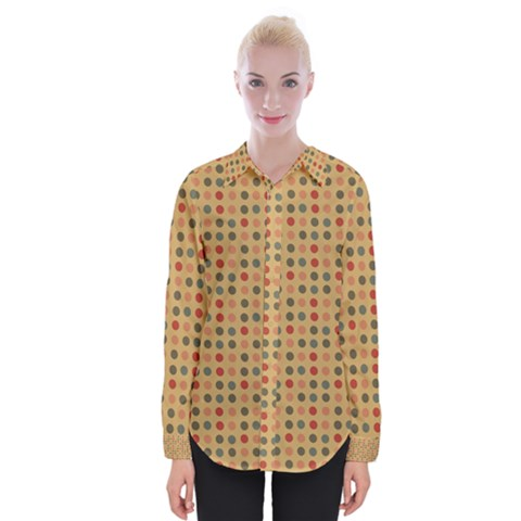 Grey Brown Eggs On Beige Womens Long Sleeve Shirt by snowwhitegirl