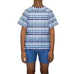 Blue Dots Kids  Short Sleeve Swimwear by snowwhitegirl