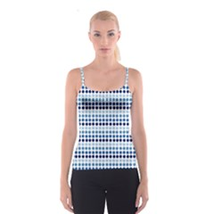 Blue Dots Spaghetti Strap Top