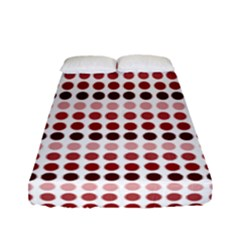 Reddish Dots Fitted Sheet (full/ Double Size)