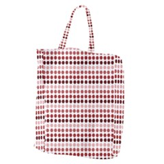 Reddish Dots Giant Grocery Zipper Tote