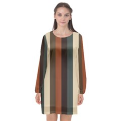 Young Nature Long Sleeve Chiffon Shift Dress
