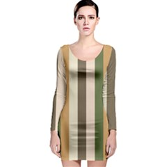 Earth Goddess Long Sleeve Bodycon Dress