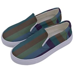 Rainy Woods Kids  Canvas Slip Ons by snowwhitegirl