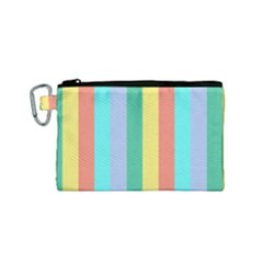 Summer Stripes Canvas Cosmetic Bag (small)