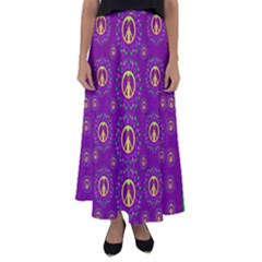 Peace Be With Us In Love And Understanding Flared Maxi Skirt by pepitasart