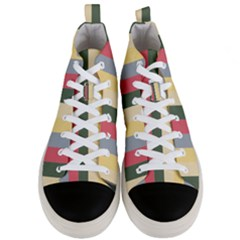 Summer Rose Men s Mid Top Canvas Sneakers