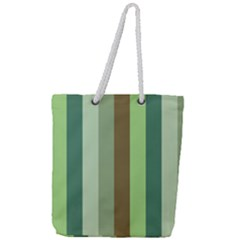 Pistachio Ice Cream Full Print Rope Handle Tote (large)