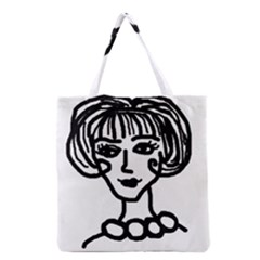 20s Girl Grocery Tote Bag by snowwhitegirl