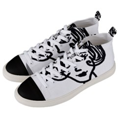 20s Girl Men s Mid Top Canvas Sneakers by snowwhitegirl