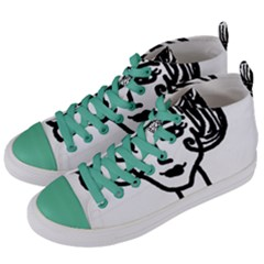 20s Girl Women s Mid Top Canvas Sneakers by snowwhitegirl